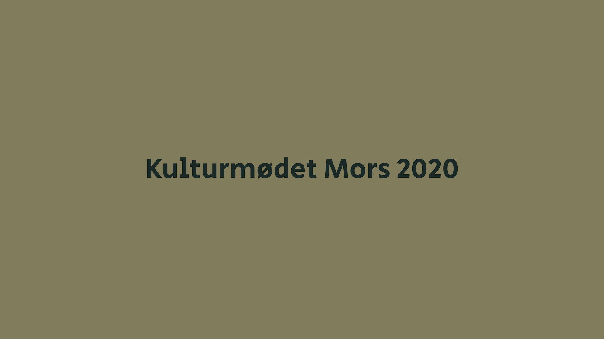 Kulturmødet Mors 2020